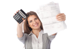 Personal Loans Paying off debt with a smile